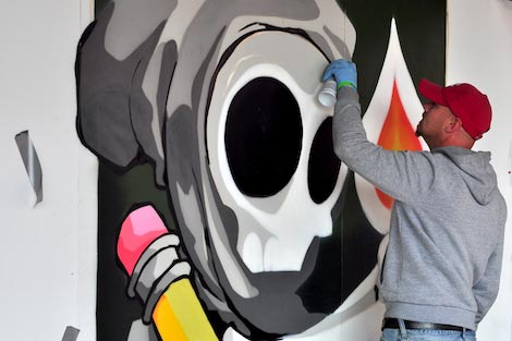 cheo painting at upfest