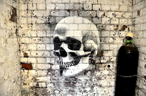 skull painting on wall upfest