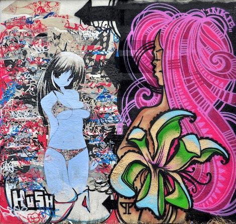 hush and inkie graffiti