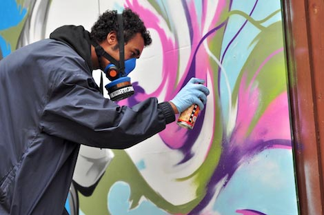nik ill painting at upfest