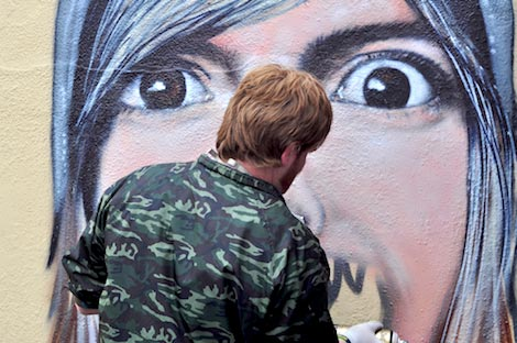Try Again pub graffiti