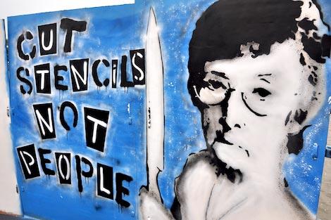 cut stencils not people
