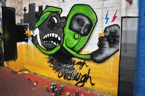 North street garage graff