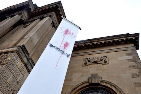 Banksy Bristol museum banner