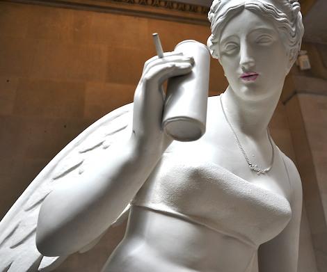 Banksy statue bristol museum