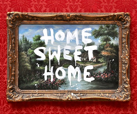 Banksy's Home sweet home painting