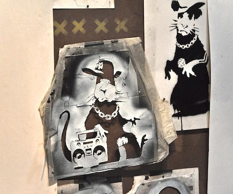 Banksy stencil original Bristol museum