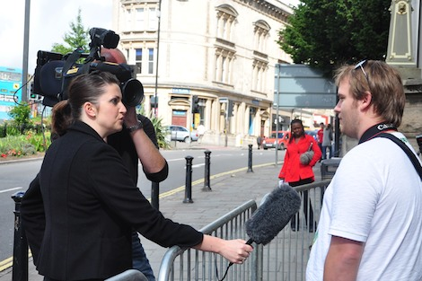 itv interview banksy fan in queue
