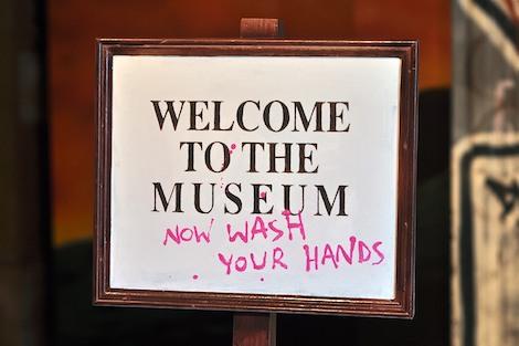 Banksy museum sign