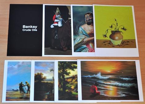 Banksy crude oil postcards