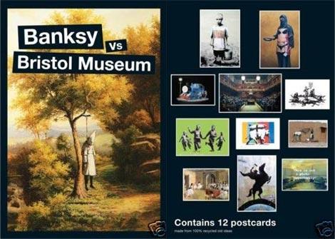 Banksy versus Bristol Museum postcards