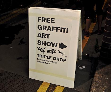 Triple Drop exhibition sign
