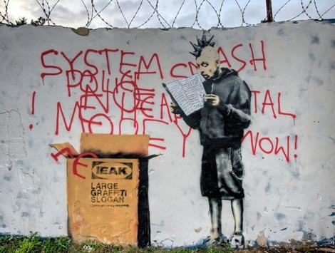 Banksy Ieak Ikea graffiti