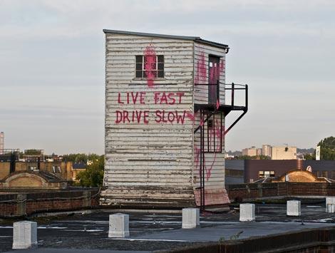 Banksy live fast drive slow