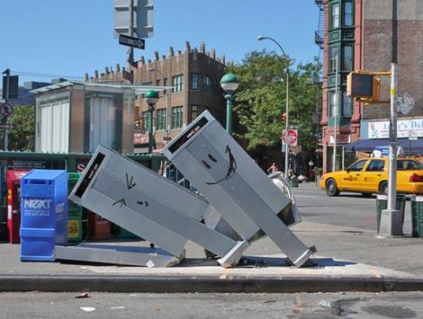 Banksy nyc phone boxes