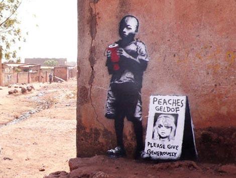 Banksy peaches geldof