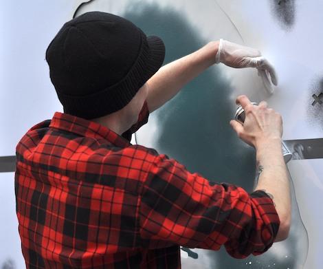 Eelus painting at Paintworks