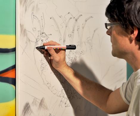 Andy Council drawing at WoC