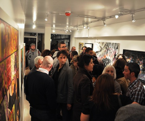 Crowd inside Friend & Co gallery