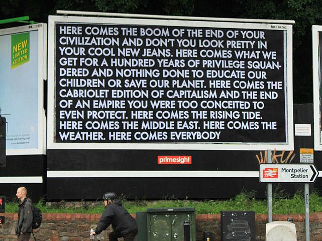 Robert Montgomery billboard Bristol