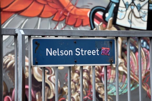 Nelson Street sign