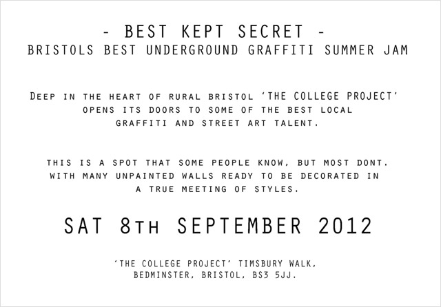 Best kept secret flyer